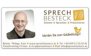 Inserat Goldkehlchen Sprechbesteck Magazin Training