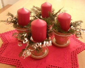 Advent Gesteck Sprechbesteck