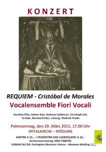 Plakat Requiem Morales Mödling